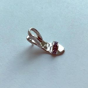 14k white gold shoe charm
